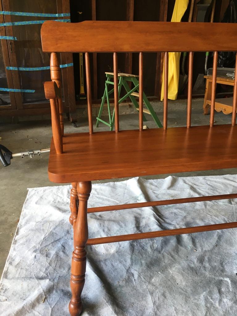 Vintage cherry wood bench