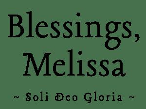 Blessings, Melissa - Soli Deo Gloria