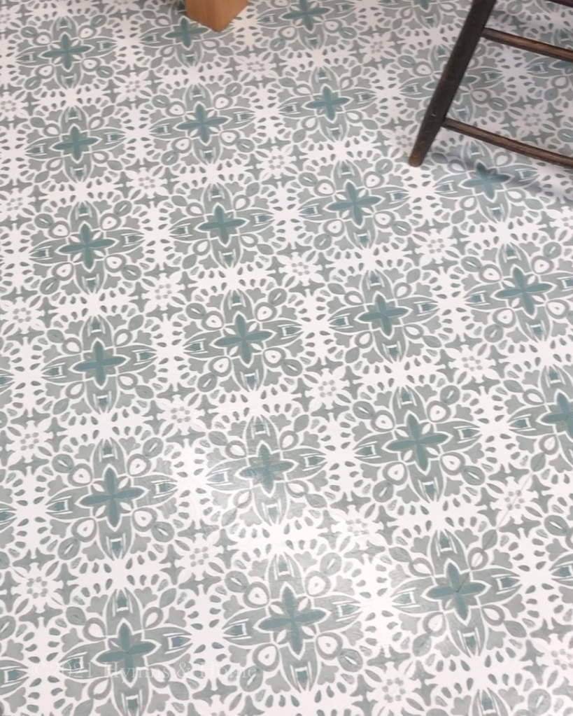 Blue and white vintage style tiles