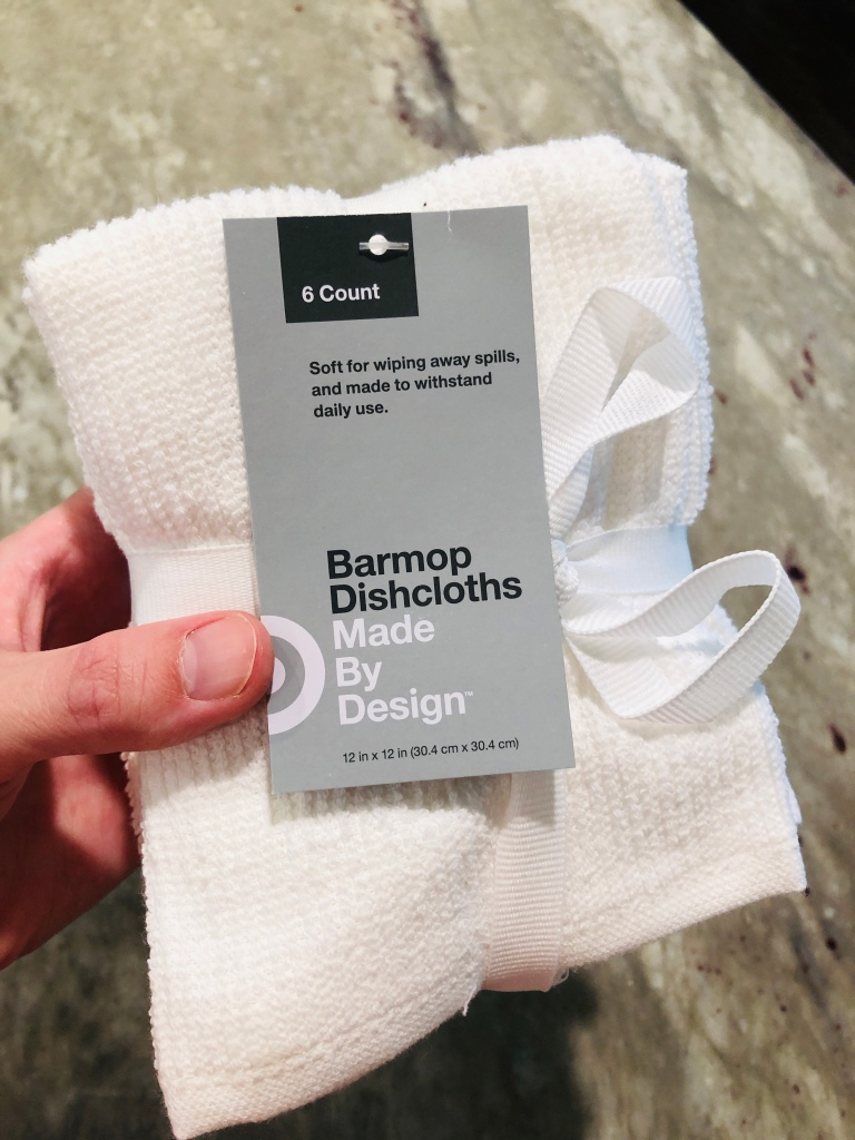 White barmop dishcloths from Target - pack of 6